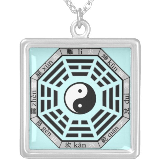 Chinese Eight Trigrams Yin Yang Symbol Pendant Zazzle