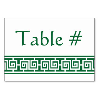 Chinese Elegance in Green Table Card
