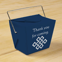 Chinese Elegance in Navy Favor Box