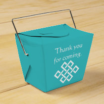 Chinese Elegance in Turquoise Favor Box