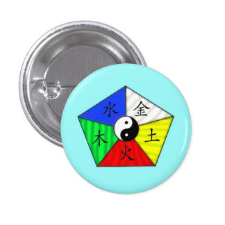 Chinese Elements Pinback Button