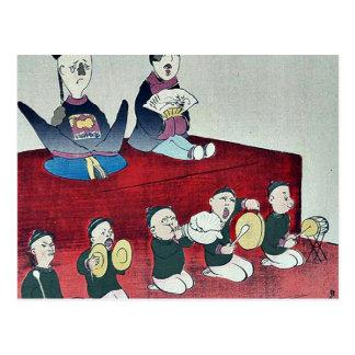 Chinese Emperor and Empress by Kobayashi,Kiyochika Post Card