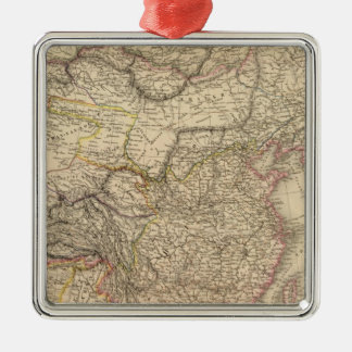 Chinese Empire, Japan Square Metal Christmas Ornament