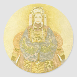 Chinese Empress on Her Throne Classic Round Sticker