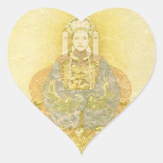 Chinese Empress on Her Throne Heart Sticker