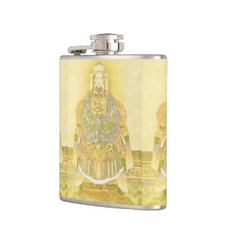 Chinese Empress on Her Throne Hip Flask