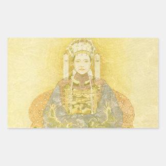 Chinese Empress on Her Throne Rectangular Sticker