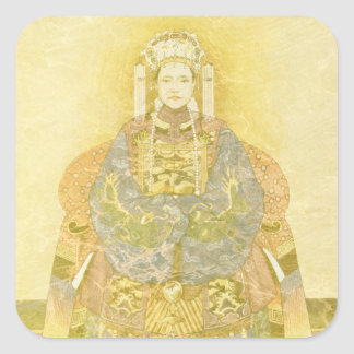 Chinese Empress on Her Throne Square Sticker