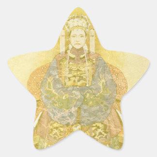Chinese Empress on Her Throne Star Sticker