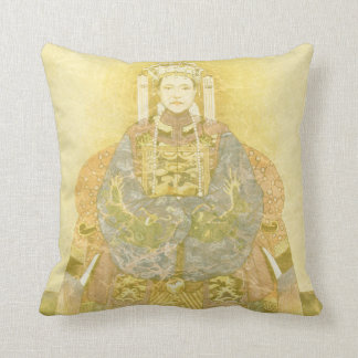 Chinese Empress on Her Throne Throw Pillow