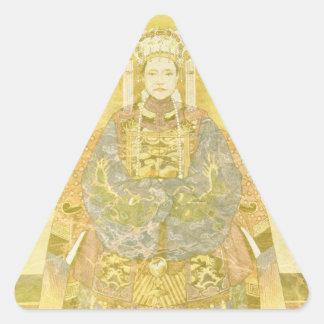 Chinese Empress on Her Throne Triangle Sticker