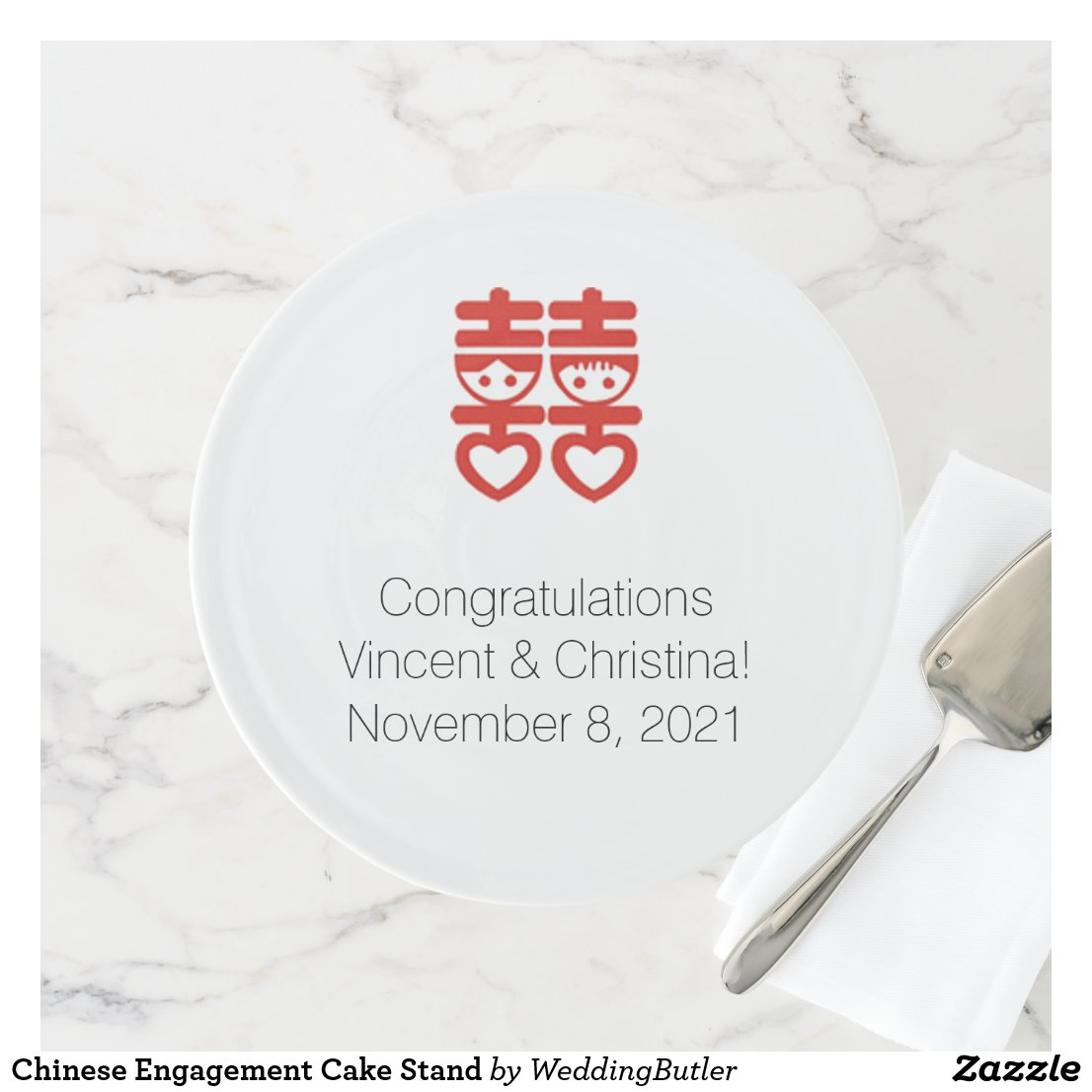 Chinese Engagement Cake Stand