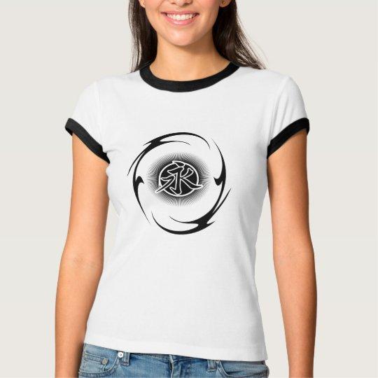 Chinese Eternity Symbol Ladies Ringer T-shirt
