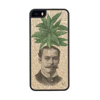 Chinese Evergreen Head Plant Head Wood Phone Case For iPhone SE/5/5s