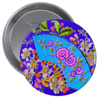 Chinese Fan Blue Template Products Button