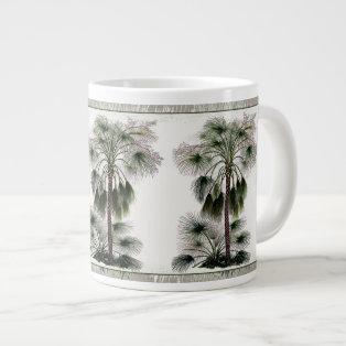 Chinese Fan Palms Botanical Jumbo Mug