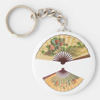 Chinese fans basic round button keychain