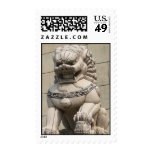 Chinese Female Guardian Lion Foo Dog 石獅 Postage Stamp