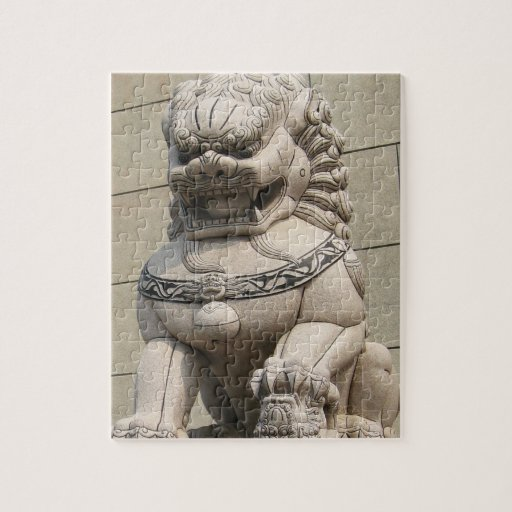 Chinese Female Guardian Lion Foo Dog 石獅 Puzzles
