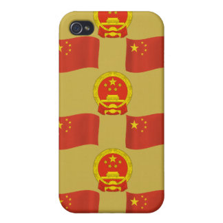 Chinese Flag and National Emblem iPhone 4 Cover