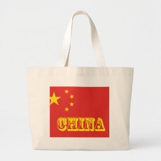 Chinese Flag Tote Bags