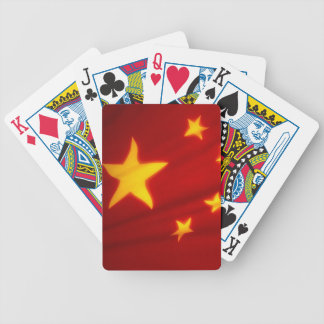 CHINESE FLAG BICYCLE PLAYING CARDS