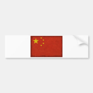 Chinese flag bumper sticker