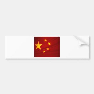 Chinese Flag Bumper Sticker