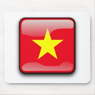 Chinese Flag Button Mouse Pad