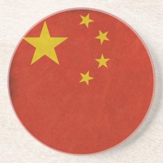Chinese flag drink coaster