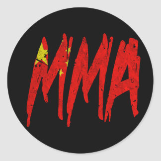 Chinese Flag MMA Classic Round Sticker