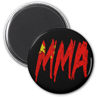 Chinese Flag MMA 2 Inch Round Magnet