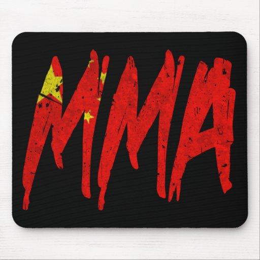 Chinese Flag MMA Mousepad