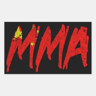 Chinese Flag MMA Sticker