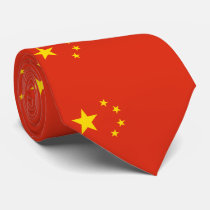 Chinese Flag Neck Tie