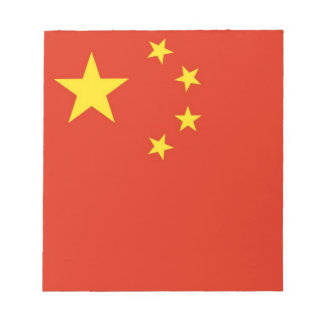 Chinese Flag Notepad