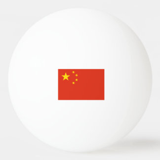 Chinese flag ping pong balls for table tennis