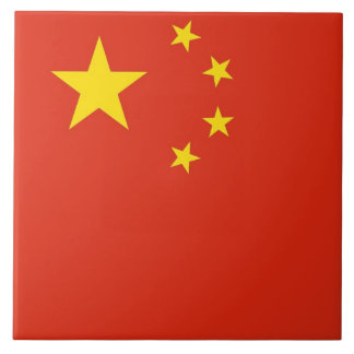 Chinese Flag Tile