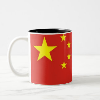 Chinese flag Two-Tone coffee mug