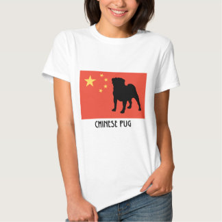 Chinese Flag with Pug T-Shirt