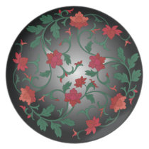 chinese floral dinner plate