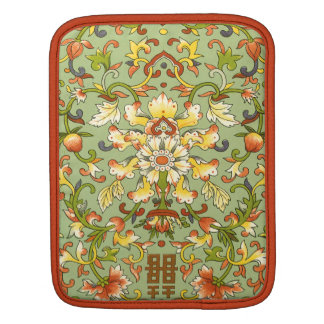 Chinese Floral Jade Asian Flair Sleeves For iPads