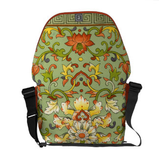 Chinese Floral Jade Asian Flair Messenger Bag