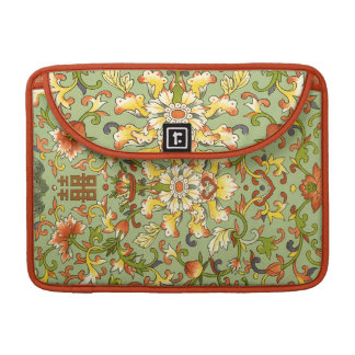 Chinese Floral Jade Asian Flair Sleeve For MacBooks