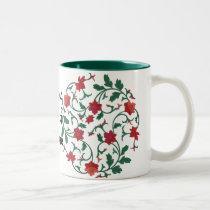 chinese floral Two-Tone coffee mug