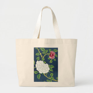 Chinese Flower Design Large Tote Bag