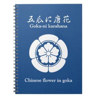 Chinese flower in goka notebook