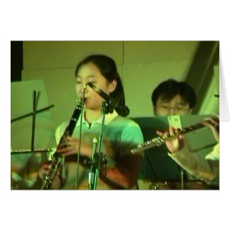 Chinese  flute players; Chinese New Year Card