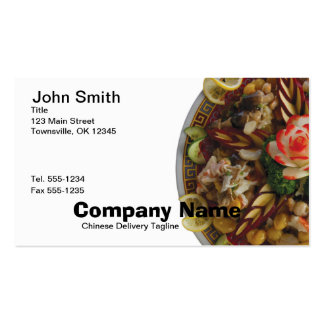 Chinese Food Business Card on White