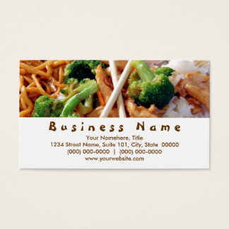 Chinese Food Business Cards